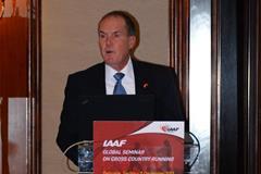 Craig Virgin at the IAAF Global Seminar on Cross Country Running, Belgrade 2013 (Sean Wallace-Jones / IAAF)