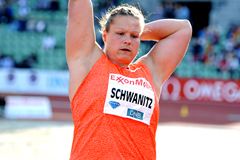 Christina Schwanitz, winner of the shot at the IAAF Diamond League meeting in Oslo (Mark Shearman)