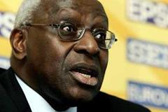 Lamine Diack at the IAAF Press Conference - St-Etienne/St-Galmier (Getty Images)