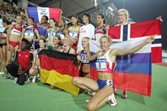 Tatyana Chernova and the Heptathletes in Beijing (Getty Images)