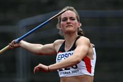 Elisa-Sophie Dobel of Germany during the Heptathlon Javelin Throw (Getty Images)