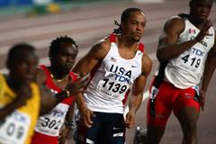 Wallace Spearmon of the US in the 200m second round (Getty Images)