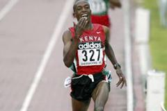 Augustine Choge of Kenya wins the 3000m final (Getty Images)
