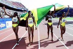 4x4000m Relay Final - Jamaica (© Allsport)