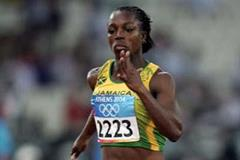 Veronica Campbell of Jamaica in action in the 2004 Olympic Games women's 100m (Getty Images)
