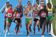 Ryan Gregson of Australia amongst the pack of athletes during the Final of the Men's 1500m (Getty Images)