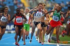 Stephanie Twell of GBR in action during the 1500m Final (Getty Images)