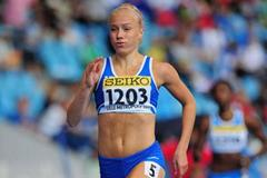 Ella Rasanen of Finland in action during the girls 400m qualification during day one of WYC Lille 6 July 2011  (Getty Images)