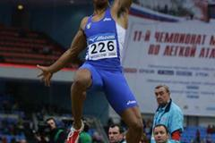 Andrew Howe of Italy on his way to winning the bronze medal the men's Long Jump final (Getty Images)