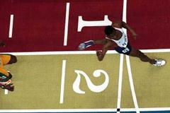 Lisbon 2001 Men's 400m (© Allsport)