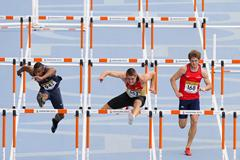 Jonas Christen of Germany wins his 110 metres Hurdles heat on day one of the 14th IAAF World Junior Championships  on July 10, 2012 in Barcelona, Spain (Getty Images)