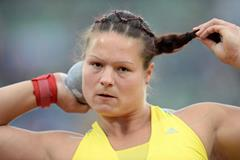Christina Schwanitz at the 2013 IAAF Diamond League in Oslo (Jiro Mochizuki)