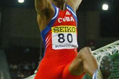 Ivan Pedroso of Cuba in action in the men's Long Jump qualification (Getty Images)