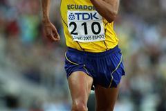 Jefferson Perez en route to gold in Helsinki (Getty Images)