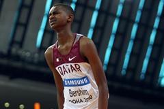 Qatari teenager Mutaz Essa Barshim at the World Indoor Championships in Doha (Getty Images)