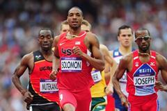 Duane Solomon of the United States competes in the Men's 800m heat on Day 10 of the London 2012 Olympic Games at the Olympic Stadium on August 6, 2012 (Getty Images)