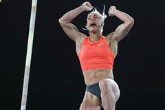 Nikoleta Kyriakopoulou, winner of the pole vault at the IAAF Diamond League meeting in Zurich (Jean-Pierre Durand)