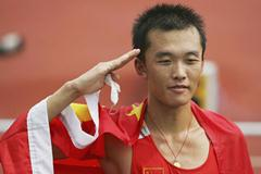 Xiangdong Bo of China celebrates winning the men's 10,000m Race Walk in Beijing (Getty Images)