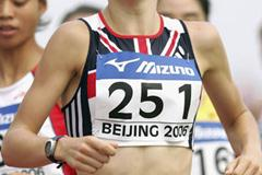 Stephanie Twell (GBR) in the 1500m final at the World Junior Championships in Beijing (Getty Images)