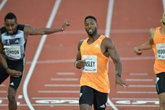 Michael Tinsley wins the 400m hurdles at the 2014 IAAF Diamond League meeting in Stockholm (DECA Text & Bild)