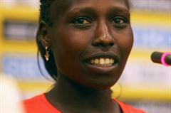 Cautiously confident - Florence Kiplagat on the eve of the World Half Marathon Championships in Nanning (Getty Images)