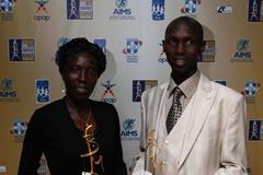 Wilson Kipsang and Edna Kiplagat with their AIMS Best Marathon Runner of the Year 2013 awards (AIMS)