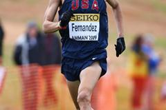 German Fernandez of the USA finishes just outside the top ten in the junior men's race (Getty Images)