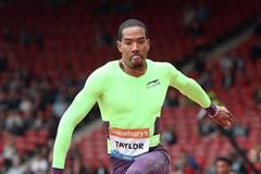 Christian Taylor at the 2014 IAAF Diamond League in Glasgow (Victah Sailer)
