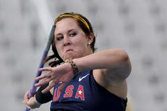 Brianna Bain of United States competes during the Women's Javelin Throw qualification round on the day one of the 14th IAAF World Junior Championships in Barcelona (Getty Images)