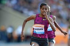 Sifan Hassan winning the 1500m at the IAAF Diamond League meeting in Glasgow (Jiro Mochizuki)