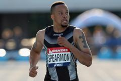 Wallace Spearmon takes the 200m in Melbourne in 20.79 (Getty Images)