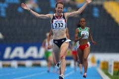 Stephanie Twell of GBR wins the gold medal in the 1500m (Getty Images)