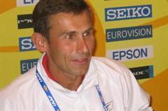 Robert Korzeniowski of Poland at the IAAF Press Conference in Naumburg (IAAF)