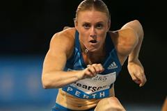 Sally Pearson on her way to victory in Perth (Getty Images)