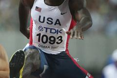 Kerron Clement of USA in action in the 400m Hurdles heats (Bongarts/Getty Images)