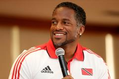 Ato Boldon at the pre-event press conference for the IAAF World Youth Championships, Cali 2015 (Getty Images)
