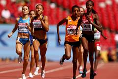 Eunice Sum wins her 800m heat at the IAAF World Championships, Beijing 2015 (Getty Images)