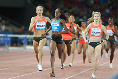 Eunice Sum wins the 800m at the IAAF Diamond League meeting in Zurich (Jean-Pierre Durand)