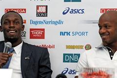 Usain Bolt and Asfa Powell at Bislett's Strawberry Party (Mark Shearman)