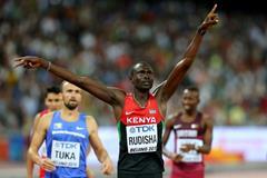 David Rudisha wins the 800m at the IAAF World Championships, Beijing 2015 (Getty Images)