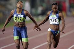 Sherone Simpson wins the 100m in Rome Golden League (Getty Images)