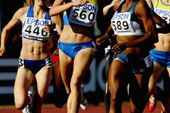 Elena Mirela Lavric of Romania wins the 800m final (Getty Images)