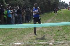 Unheralded Azmeraw Bekele takes a surprise victory at the Ethiopian World XC trials (Bizuayew Wagaw)