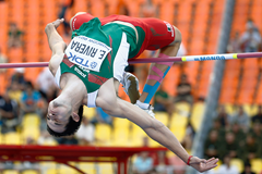 Edgar Rivera in the high jump at the IAAF World Championships (AFP / Getty Images)