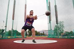 Pawel Fajdek on his way to winning the hammer (Organisers / sport-pics.cz)