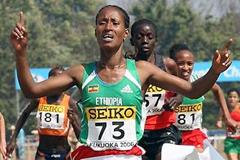Ethiopia's Gelete Burka becomes 2006 World Cross Country Championships short race champion (Getty Images)