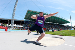 Joe Kovacs, winner of the shot at the IAAF Diamond League meeting in New York (Victah Sailer)