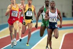 Lisbon 2001 Men's 400m heats (© Allsport)