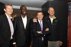 Steve Cram, David Rudisha, Sebastian Coe and Alberto Juantorena at the IAAF Centenary Historic Exhibition (Giancarlo Colombo)