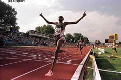 Cornelius Chirchir in action during the 1500m (© Allsport)
